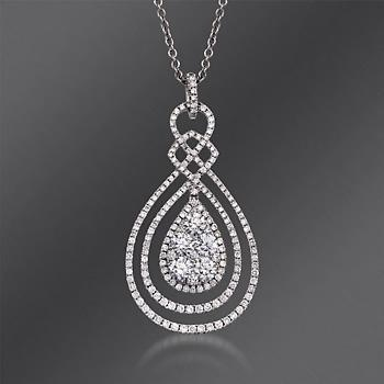 Gregg Ruth 2.32 ct. t.w. Diamond Necklace In 18kt White Gold. 18""