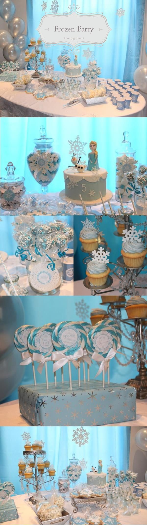 Frozen themed party styled by Enchanted Party! http://enchantedparty.com/