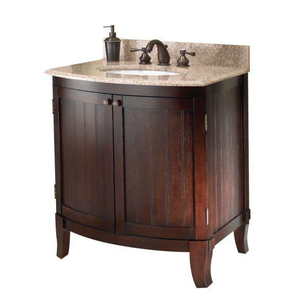 Foremost blcvt 3021 30 inch bellani cherry bathroom vanity for Bathroom ideas amazon