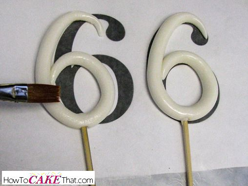 How To Make A Stand-Up Number Topper