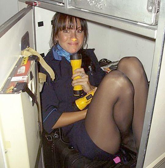 Flight crew pantyhose