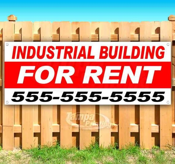 Industrial Building For Rent Custom Phone 13 Oz Heavy Duty Vinyl Banner Sign With Metal Grommets New Store Advertising Flag Many Sizes In 2020 Vinyl Banners Outdoor Vinyl Banners Land For Lease
