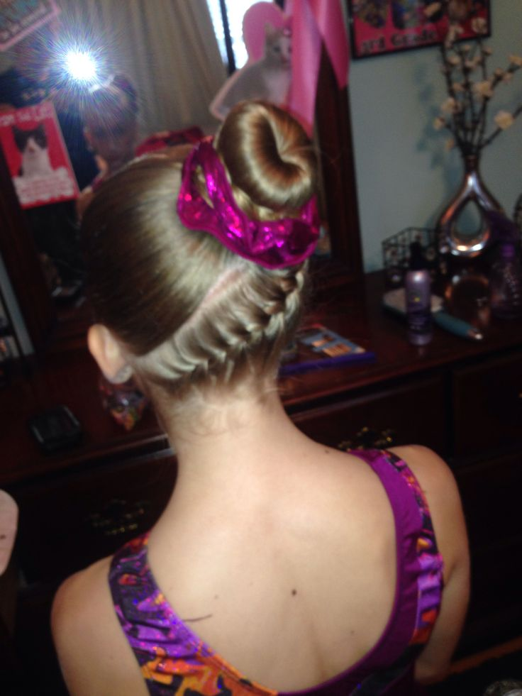 Tremendous 1000 Images About Gymnastics Hairstyles On Pinterest Knot Bun Short Hairstyles For Black Women Fulllsitofus