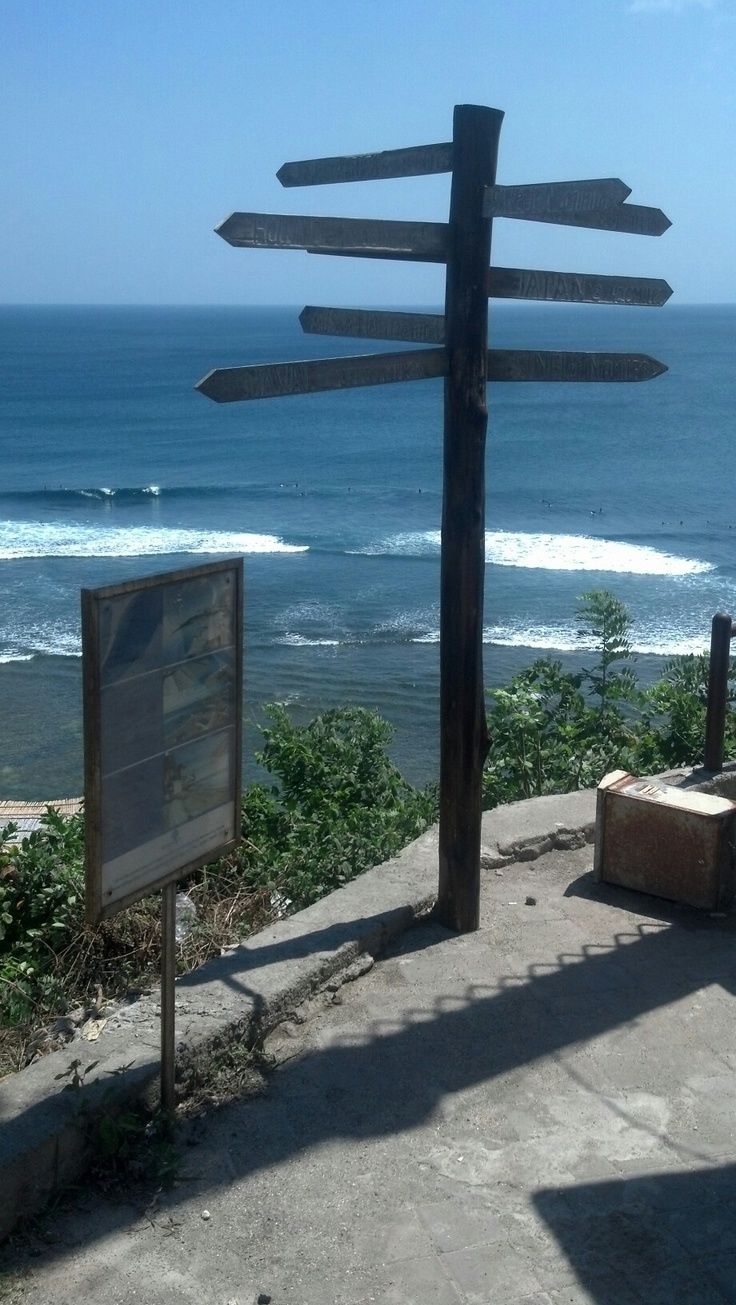 The view from the top is amazing .. The trip down to the beach?! EXHAUSTING!! - Bluepoint Beach Uluwatu, Bali.