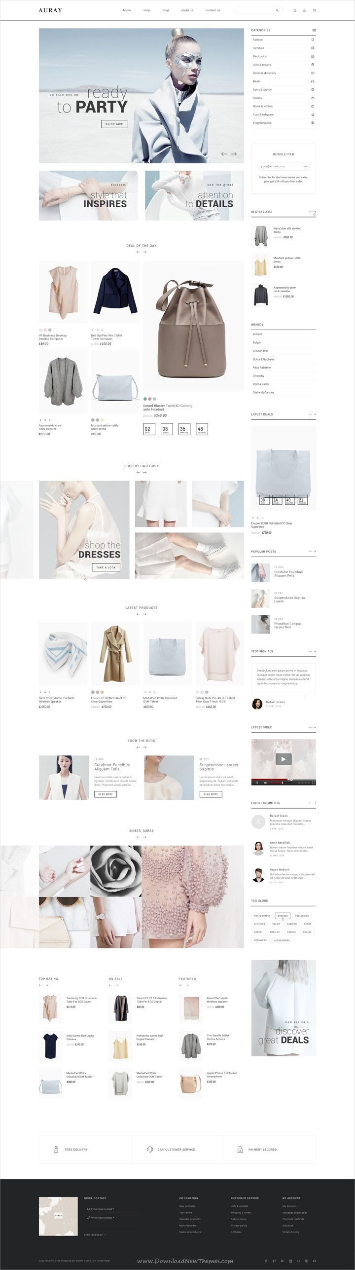 Auray is clean and modern design #creative PSD #theme for stunning #eCommerce website with 10 niche homepage layouts and 45 layered PSD files download now > https://themeforest.net/item/auray-ecommerce-psd-template/19751094?ref=Datasata