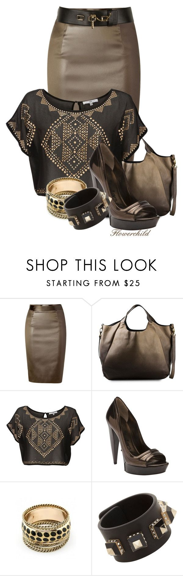 """Mocha"" by flowerchild805 ❤ liked on Polyvore featuring Moschino Cheap & Chic, Pieces, Lanvin, Retrò, Givenchy and Carven"