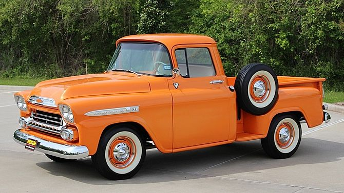 1959 Chevrolet Apache Pickup 3-Speed, Restored presented as lot F237 at Houston, TX