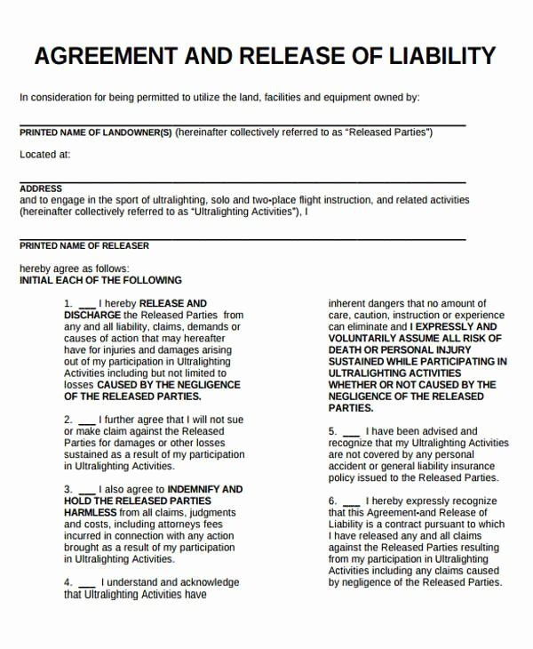 General Release Form Template Awesome Release Liability Form Template Liability Waiver General Liability Liability