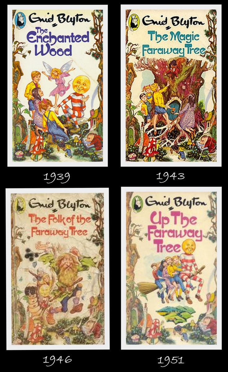 """The """"Faraway Tree"""" stories - Enid Blyton - I LOVED these books (in paperback, with these covers) soooo much."""