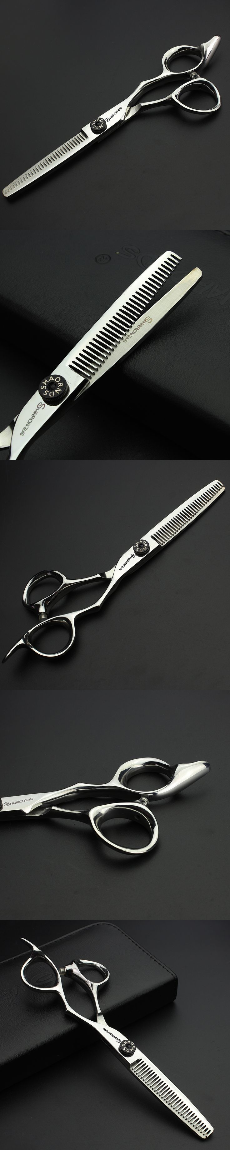 sharonds Professional hairdressing slimming scissors equipment Japanese silver 6 inch hairdressing scissors free shipping