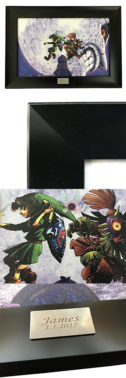 Legend of Zelda Official Licensed Personalized Picture Wall Framed - Personalized Gift - Wood Picture Framed - Engraved Picture Framed (Zelda TARR010)