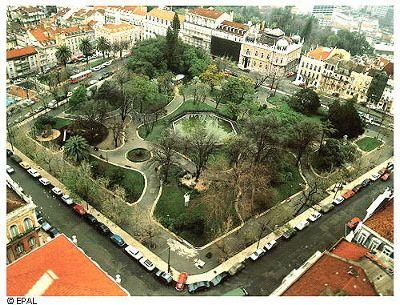Principe Real Square, Lisbon, Portugal