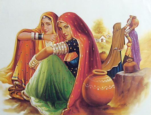 village women - Painting by Kusuma Goud at touchtalent 60331