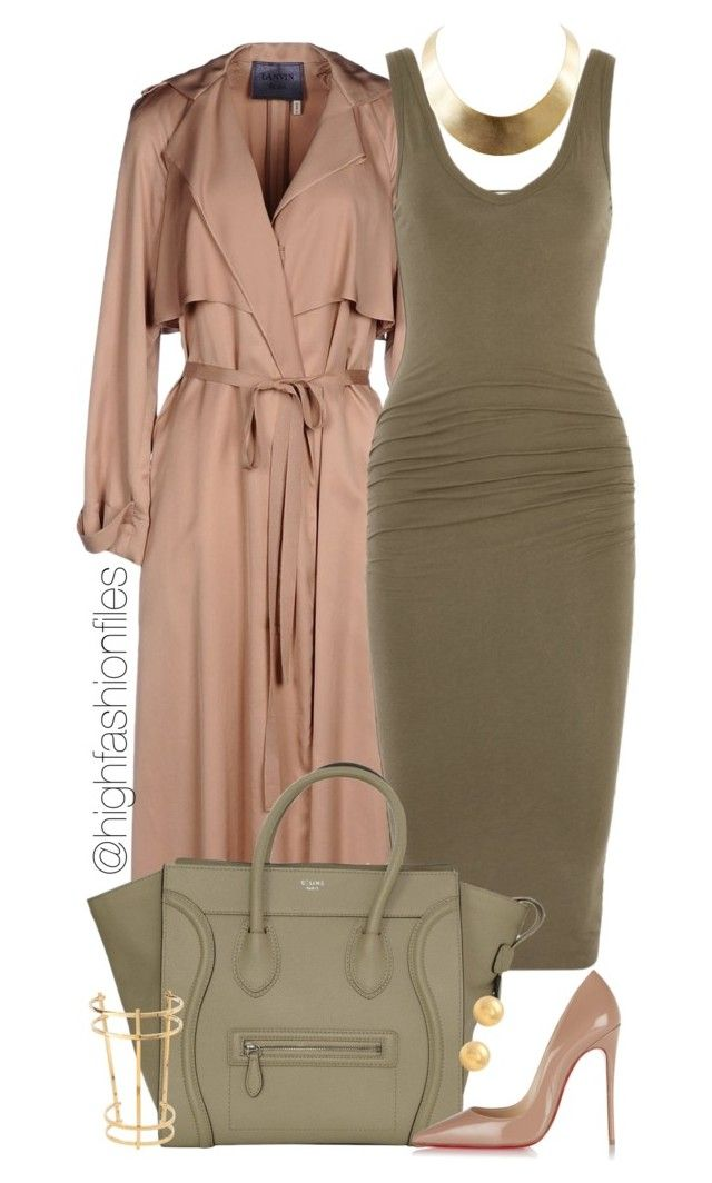 """Lavish"" by highfashionfiles ❤ liked on Polyvore featuring Lanvin, James Perse, Christian Louboutin, GUESS and Chloé"