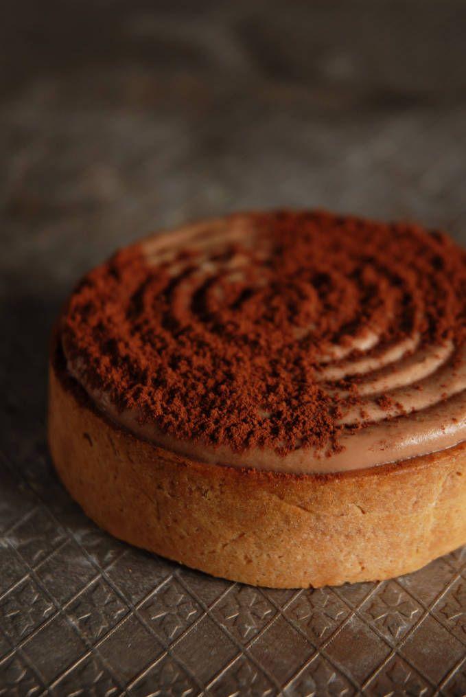 ... almond tart shell, fleur de sel vanilla bean caramel, milk chocolate
