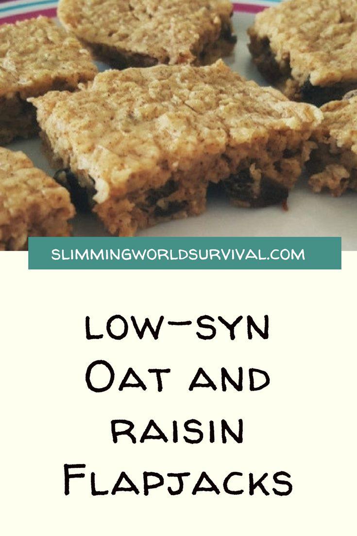 Slimming World Recipe for Low Syn Flapjacks #slimmingworld #lowsugar #flapjacks