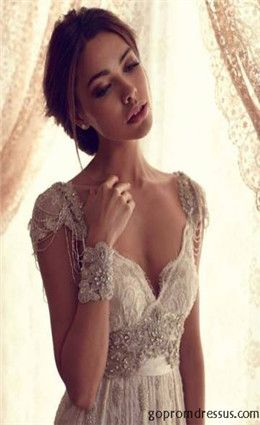 wedding dress wedding dresses @Briana McCadam  The lace! The cut! The straps!