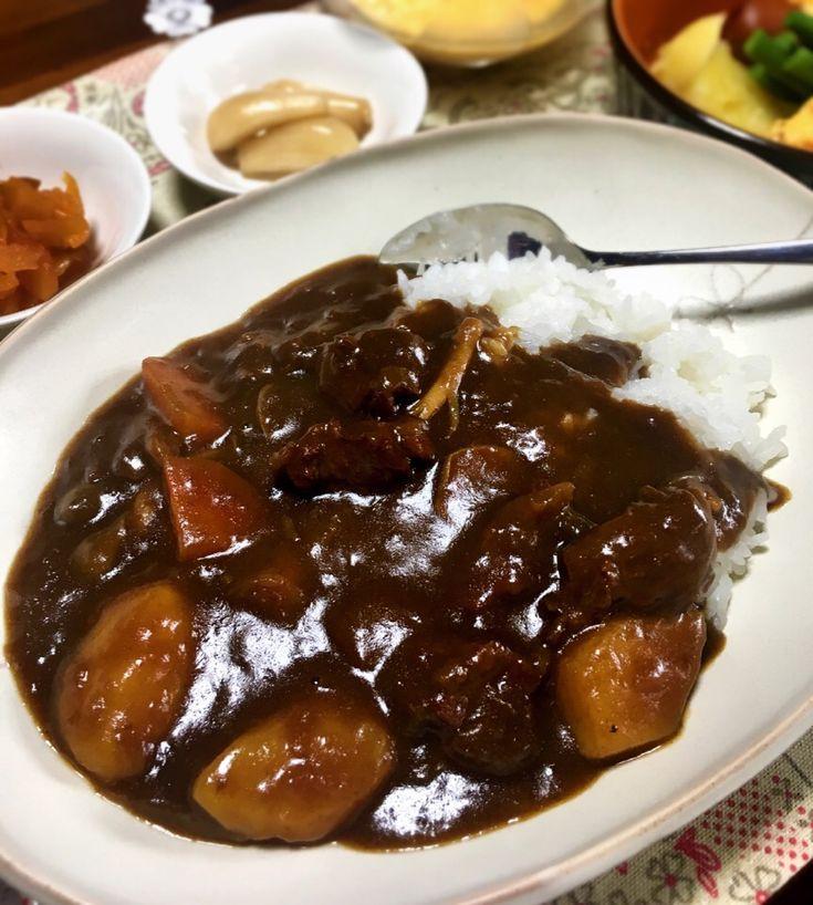 七味's dish photo 朝ごはん 牛肉の赤ワインカレー | http://snapdish.co #SnapDish #カレー #朝ご飯 #ワイン
