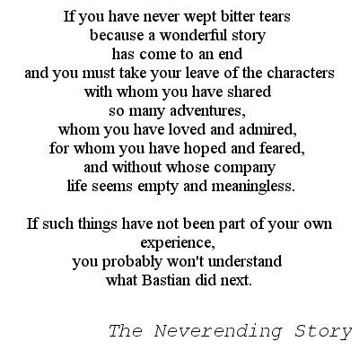 the neverending story a classic novel essay In a classic we sometimes discover something we have always known which he went on to describe in a wonderful essay in other words, to read a great book for the first time in one's maturity is an extraordinary pleasure, different from.