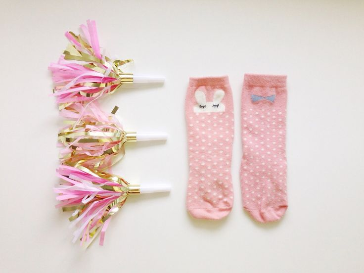 The perfect girly pink bunny knee socks for your little gals!