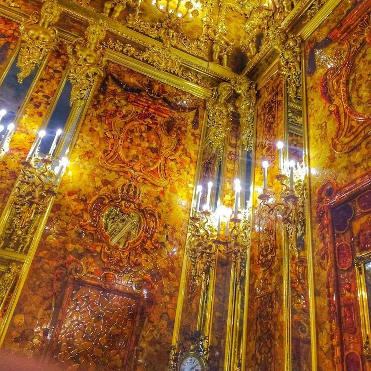 St.Petersburg.  Winter Palace. The Amber Room.