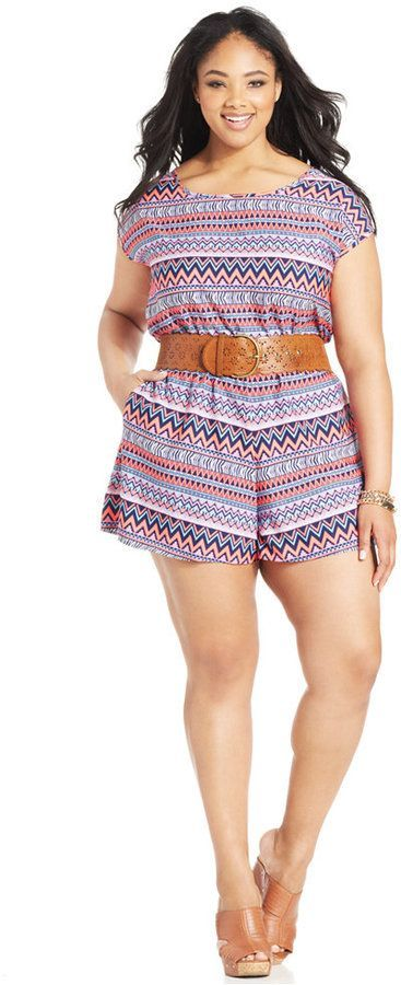 Plus Size Short-Sleeve Romper (on clearance!)