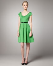 Neiman Marcus...Kate Spade New York...Colour=Green...Cotton/Lycra...Belt not included...Simple, Easy, Cute