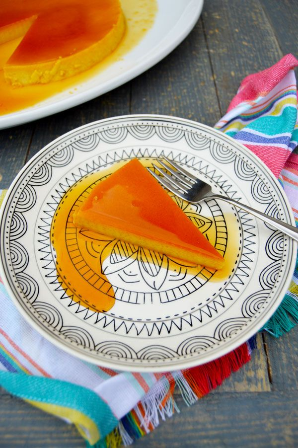 Cuban Flan de Leche - easy and delicious! Only takes 5 ingredients, 1 pan, and 1 bowl!