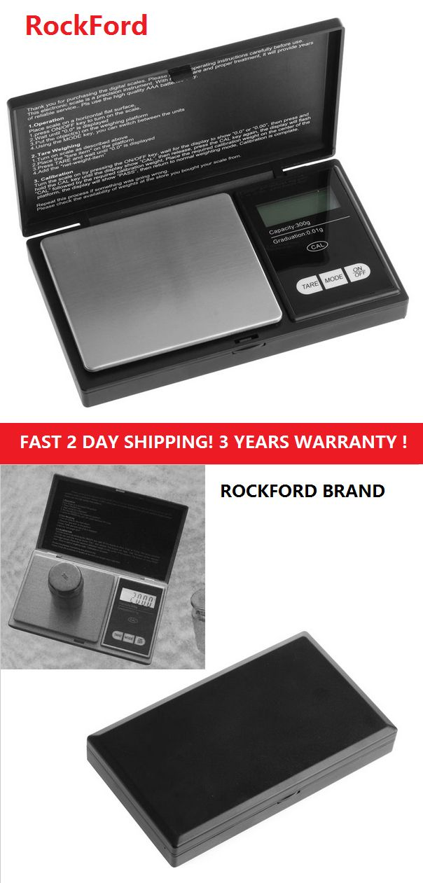 Scales 34088: Rockford A12 Smart Weigh Elite 600 X 0.1G Pocket Digital Jewelry Herb Gram Scale -> BUY IT NOW ONLY: $30.96 on eBay!