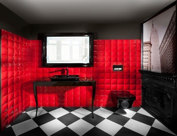 Dark Black U0026 Red Bathroom By Elad Gonen U0026 Zeev Beech