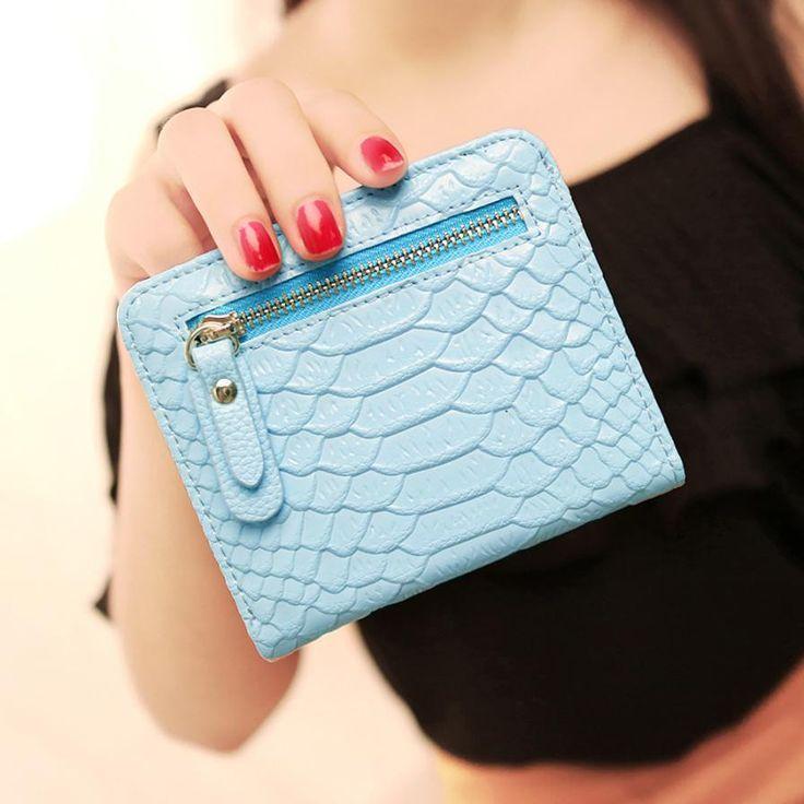 2016 New fashion women wallets short small bag lovely purse clutch with zipper Card Holder Handbag Bag Small Female Purse