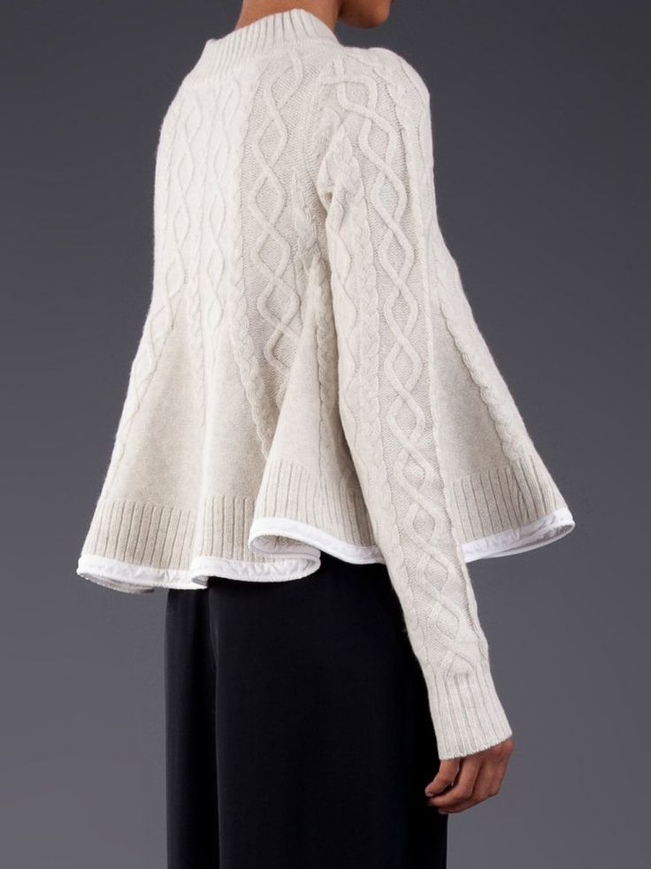 ...audible gasp...beautiful! SACAI LUCK - Flared Pullover Sweater - 13AWLU593…