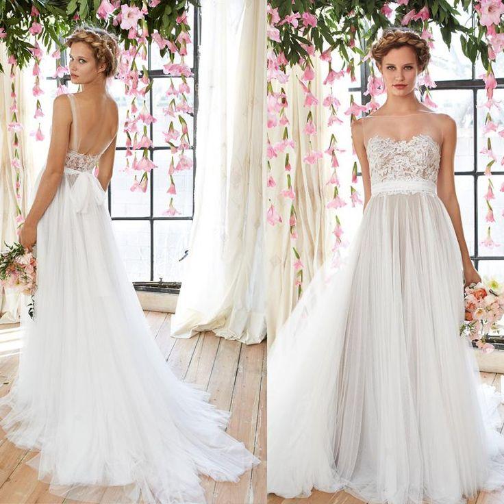 Latest Wedding Gown Cheap Flowy Beach Wedding Dresses 2015