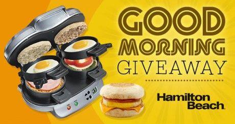 Win a Hamilton Beach Breakfast Sandwich Maker