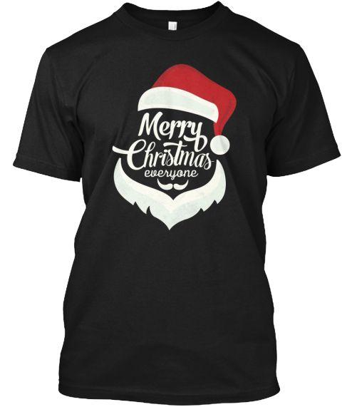 Christmas T Shirts For Men, Women !  Black T-Shirt Front