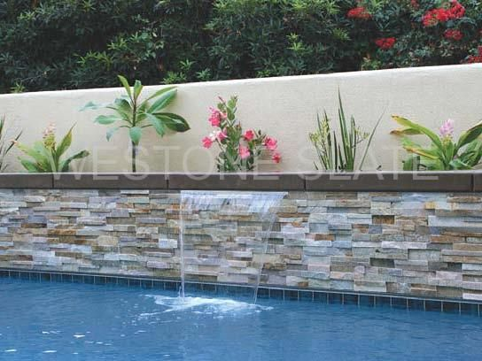 oyster quartz ledger stone panles for pool