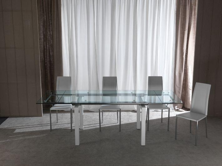 Tavolo Mambo 670 tavoli cristallo allungabili - tavoli