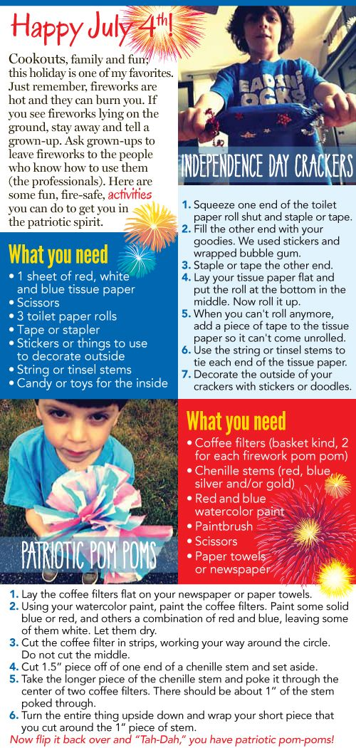 Activities for July 4th with your kids!
