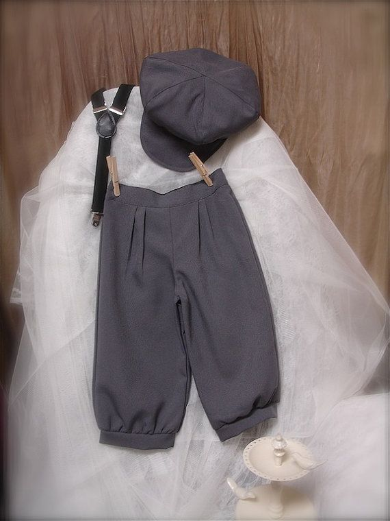 Ringbearer Outfit: Grey sz-4-6yrs Knicker Pants for  little boys, wedding outfit, Pants only. $24.00, via Etsy.