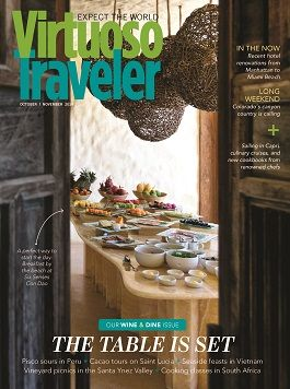 Virtuoso Traveler - Wine & Dine - honored to be quoted on page 44!