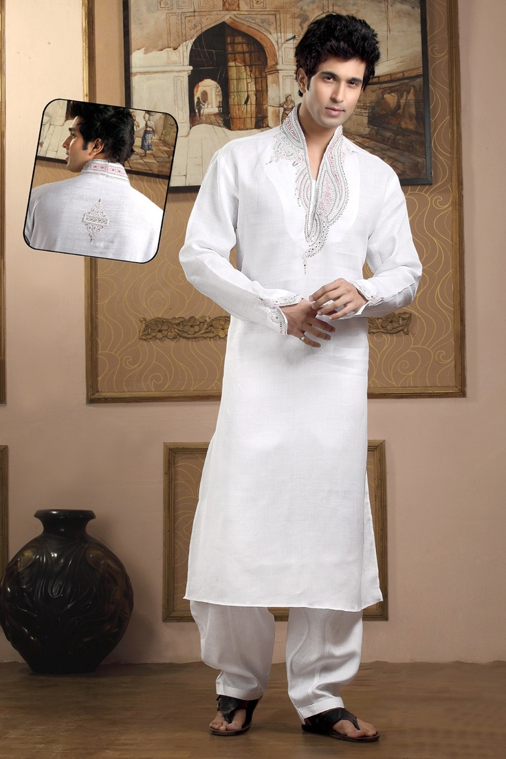 Dynamic Off White kurta pyjama. <3 Click Here To Know More: http://www.gravity-fashion.com/10244-dynamic-off-white-kurta-pyjama.html <3