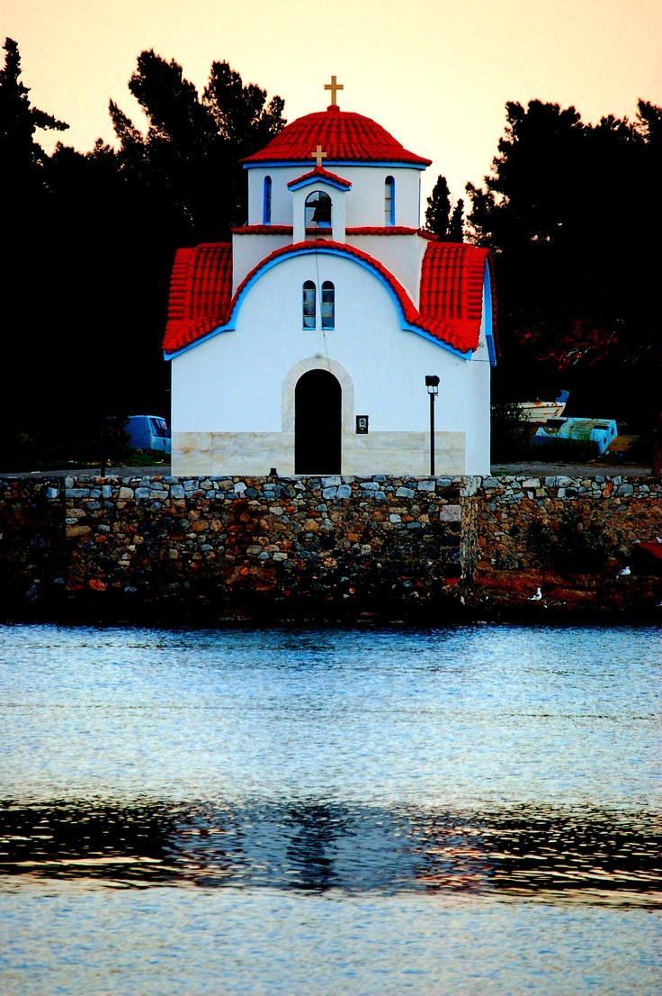 Small church in Gythio,Greece: Small Church, Church Small, Gythio Greece, Picturesque Churches, Step Gythio, Peloponesso Greece, Church Castles, Greek Church, Churches Castles