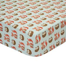 Clever Fox Fitted Crib Sheet