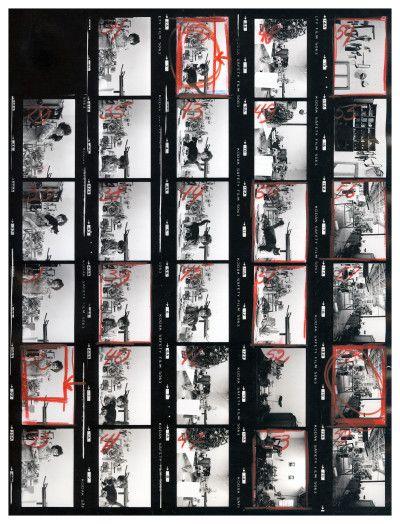 IMAGINA BOGOTÁ- Hernán Díaz Feliza Bursztyn en su estudio, hoja de contactos (1970) Archivo fotográfico de Hernán Díaz, Biblioteca Luis Ángel Arango.
