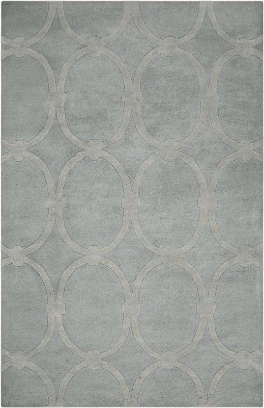 Modern Classics 1990 Blue Oval Rings Contemporary Hand Tufted Wool Rug - Surya | Rugs by SelectRugs.com  discount