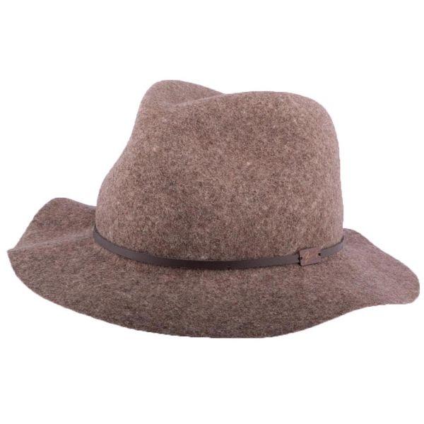 Chapeau Feutre Marron chiné Jackman Bailey Le style sur Hatshowroom.com en #chapeau #casquette #bonnet
