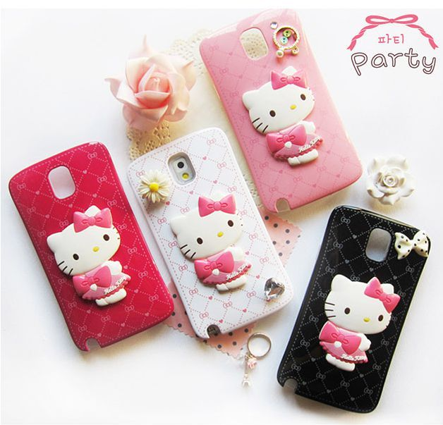 Sanrio's most popular and cute character, Hello Kitty, the adorable female white cat will become the perfect companion for your phone! Two amazingly kawaii designs are available: mirror and party.