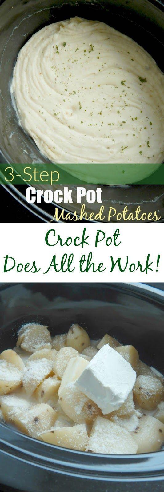 3 step crock pot mashed potatoes (sweetandsavoryfood.com)