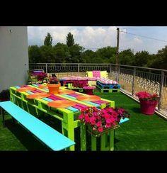Un picnic muy colorido