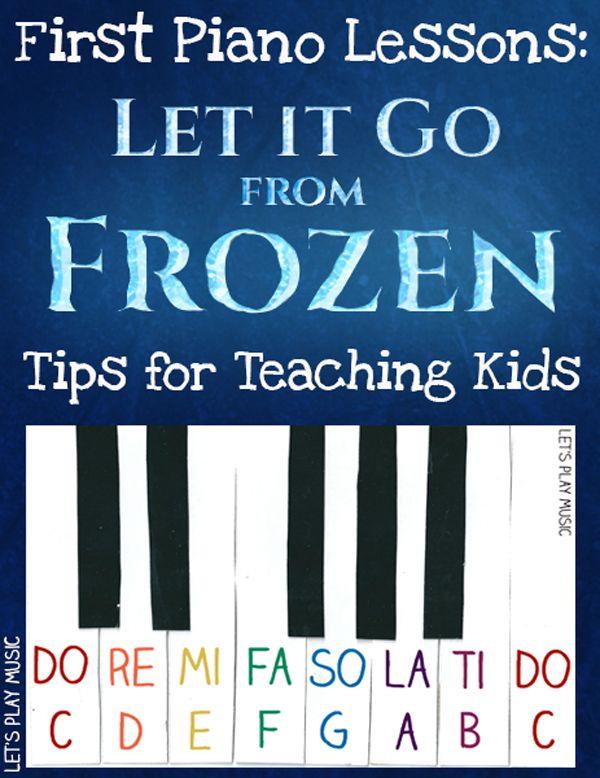 Teaching Kids Let It Go from Frozen on the Piano // Lección para niños: Let it go, de Fronze, en el piano